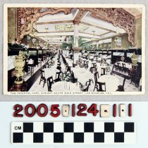 """Image of 2005.124.1.1 - """"THE ORIENTAL CAFE, 445-447 SOUTH MAIN STREET, LOS ANGELES, CAL."""""""