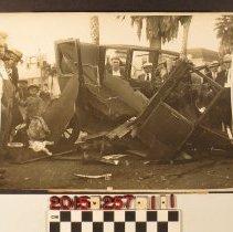 Image of 2015.257.1.1 - A press photo, automobile crash, Los Angeles