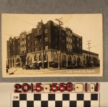 Image of 2015.558.1.1 - A real photograph postcard, Hotel Somerville, Los Angeles