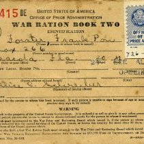 Image of World War II Ration Book Two
