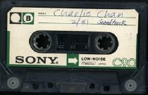Image of Charlie Chan soundtrack recording. Side B