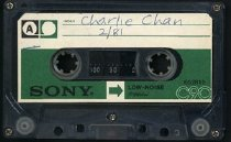 Image of Charlie Chan soundtrack recording. Side A