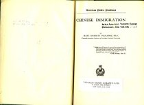 Image of 304.073-C - Contents: Part I, Free immigration, 1848-1882 -- Part II, Restriction and exclusion -- Part III, Competition and assimilation.