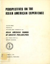 Image of 305.8-P - This is a collection of conference papers about perspectives on the Asian American experience.