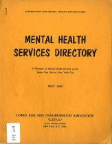 Image of 362.2-M -  A directory of mental health services on the Lower East Side of New York City