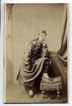 Image of Studio portrait of a Chinese man, 1860-1872