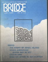 Image of  This is about Angel Island, Asian Americans in 1977, Edison Uno and Senator Spark M. Matsunaga.