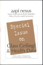 Image of aapi nexus special issue on Glass Ceiling and Health Data Vol. 4 No.1