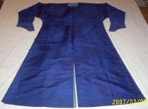 Image of Blue silk robe