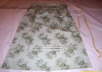 Image of Light green silk skirt