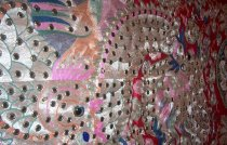 Image of Colorful robe (detail)