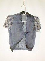 Image of Blue and white chiffon jacket