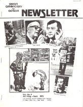 """Image of July-September 1973 Vol. 5, No. 4 23 pp.  Table of Contents: -Calendar of Events -A.A.A. Editorials: More on Watergate and the Power of the President -Michio Kaku Speaks on Scientists and War -At JACL-AAA Meeting: Cooperation Seen """"On Issue Basis,"""" by Taxie Kusunoki Wada -In Memory of Hiroshima-Nagasaki, Vietnam, Laos, and Cambodia -Dr. Wah Doo Ah Know, B.A.K.A. -Boycott Grapes and Lettuce! Support the Farm Workers Union! by Kazu Iijima -Delano Trip -Nisei Farmer Supports Farmworkers Struggle -Poem by an Issei -A Comparative View, by Majime Ningen -Japanese Investing Heavily in U.S. Race Horses -AAA Affiliates with N.C.R.C.L.P., National Pilipino Group -An Old Man's Story (as told to his Chinese-American son), Part II -The First Candle -Up-to-Date with AAFM Activities, by Tami Ogata -Cambodian Bombing Protest Disrupted by Police, by Yuri Kochiyama"""