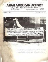 """Image of March-May 1975 Vol. 6, No. 2 19 pp.  Table of Contents: -A.A.A. Editorials: People's Victories in Cambodia and South Vietnam, All Hail! -A.A.A. Statement on Wholesale Kidnapping of Vietnamese Babies -Text of the Speech Given by the Coalition of Asian Women's Groups: March 8, 1975, International Women's Day -The Aged and Welfare Recipients in Our Economic Crisis, by Minn Matsuda -Who is the Enemy?! -Thoughts on Some Recent """"Women's"""" Films, by Mitziko Sawada Fromartz -Vietnam Refugees: Operation Diversion, by Brenda Paik Sunoo"""