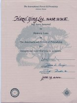 Image of 2007.006.008 - Certificate