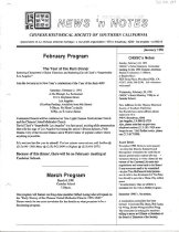 Image of January 1991 4 pp. (1 folded, double-sided page)