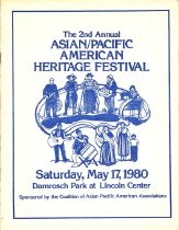 Image of Program book of the 2nd annual Asian/Pacific American Heritage Festival, held May 17, 1980, in New York City.