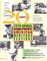 Image of Program book of the 20th annual Asian/Pacific American Heritage Festival, held May 2, 1999, in New York City.