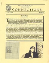 Image of Spring 1993 Vol. 4, No. 2 10 pp.  Contents: -Director's Message -Interview with Rocky Chin -R.A.C.E. Conference -From Our Past -A Discussion of China Men -Coming Events -Course Offerings, Spring 1992 -Joyce's Corner