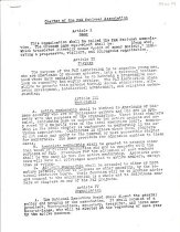 """Image of Photocopy of charter of the PAX National Association, chartered in December 1944 """"to organize young men, who are Americans of Chinese ancestry, into a fraternal brotherhood whose main emphasis will be to maintain a progressive outlook on community and worldly affairs."""" Charter lays out guidelines for Membership, Organization, Dues, Amendments, and By-Laws."""