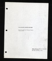 Image of 974.71-O - Includes general historical survey of New York's Chinatown, address-by-address survey of key buildings in Old Chinatown, timeline of Chinese American history, Chinatown tour outline, and photocopied miscellanea.