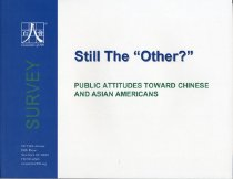 Image of 305.85-C - This report is to present key findings of survey conducted by Committee of 100. The objectives of survey are 1) to access current attitudes toward Chinese and Asian American. 2) to guage shifts in attitudes from 2001. 3) to explore the factors that help formulate perceptions and the reasoning behind attitude changes.