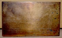 Image of Engraved metal rectangle (front)