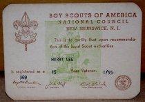 Image of 1985.001.013 - Card, Membership