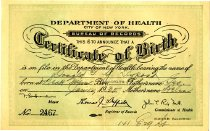 Image of Birth certificate of Donald, 1935