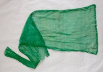 Image of Green sheer fabric