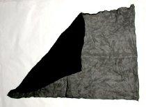 Image of Black sheer chiffon fabric