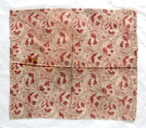 Image of Red patterned fabric