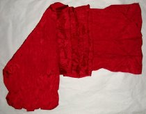 Image of Red sateen scarf