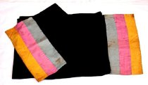 Image of Black scarf with multicolored ends