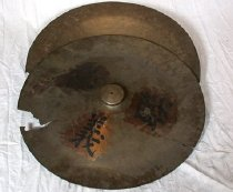 Image of Two large cymbals