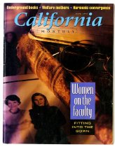 """Image of June 2005 issue of California Monthly.  The cover story is """"Women on the Faculty: Fitting into the Gown."""""""
