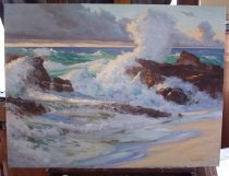 Image of Sunrise: Wind and Waves - Painting