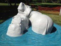 Image of Hippopotami - Sculpture