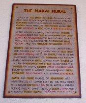 Image of The Makai Mural Plaque - Plaque