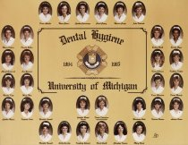 Image of U-M School of Dentistry- Dental Hygiene Class Photograph Collection - 0293.1985