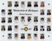 Image of U-M School of Dentistry- Dental Hygiene Class Photograph Collection - 0293.1997a