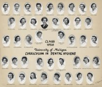 Image of U-M School of Dentistry- Dental Hygiene Class Photograph Collection - 0293.1956