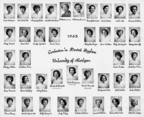 Image of U-M School of Dentistry- Dental Hygiene Class Photograph Collection - 0293.1963