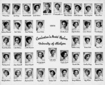 Image of U-M School of Dentistry- Dental Hygiene Class Photograph Collection - 0293.1964