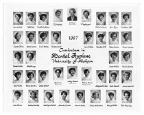 Image of U-M School of Dentistry- Dental Hygiene Class Photograph Collection - 0293.1967a