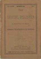 Image of The Dental Register - 0966.0015