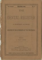 Image of dental register 03/1885
