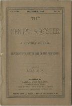 Image of dental register 10/1890