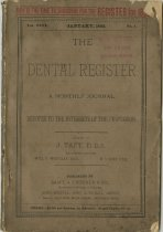 Image of dental register 01/1892