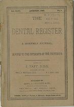Image of dental register 08/1892